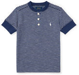 Ralph Lauren Childrenswear Multi-Striped Cotton Henley T-Shirt