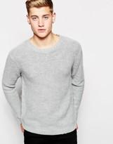 Cheap Monday Crew Knit Jumper Melange - Grey