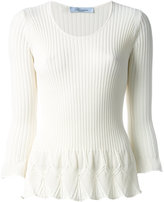 Blumarine flared knit top - women - Polyamide/Viscose - 40