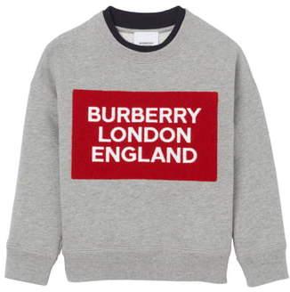 Burberry Fabbio Logo Patch Sweatshirt
