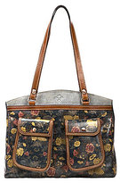 Patricia Nash Denim Fields Collection Belver Floral Tote