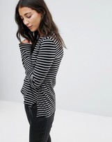 Pam & Gela Slim Striped Long Sleeved Tee