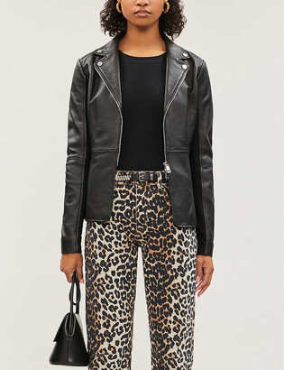 Pinko Stravedere leather jacket