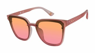 Laundry by Design Women's LD293 Rectangular Sunglasses with 100% UV Protection 59 mm