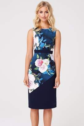 Paper Dolls Mallord Rose Floral Midi Pencil Dress
