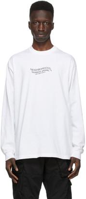 Neighborhood White Distortion-2 C Long Sleeve T-Shirt