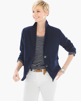 Chico's Modern Blazer in Deep Navy