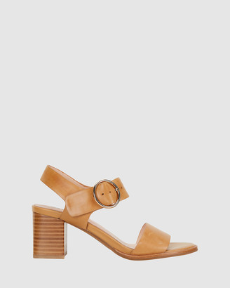 Jane Debster - Women's Brown Heeled Sandals - Nickel - Size One Size, 36 at The Iconic