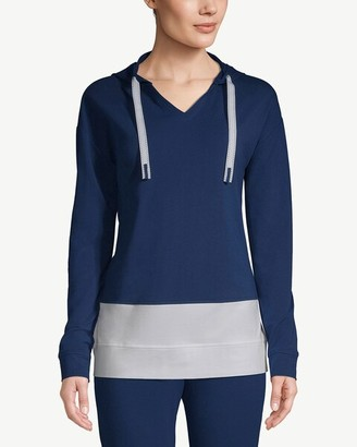 Zenergy Colorblocked Hooded V-Neck Pullover Top