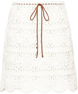 Miu Miu Crochet-Knit Skirt