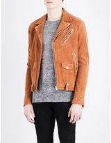 The Kooples Biker Collar Suede Jacket