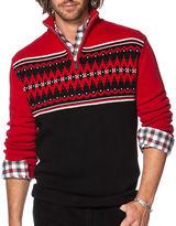 Chaps Fair Isle Quarter-Zip Sweater