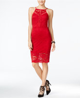 Material Girl Juniors' Lace Halter Bodycon Dress, Only at Macy's