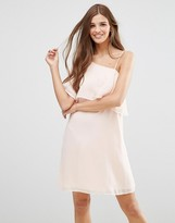 Lavand One Flutter Sleeve Dress In Blush