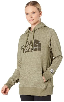 The North Face Recycled Materials Pullover Hoodie (Burnt Olive Green Heather) Women's Sweatshirt