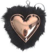 Stella McCartney Black Eco-fur Heart Keyring