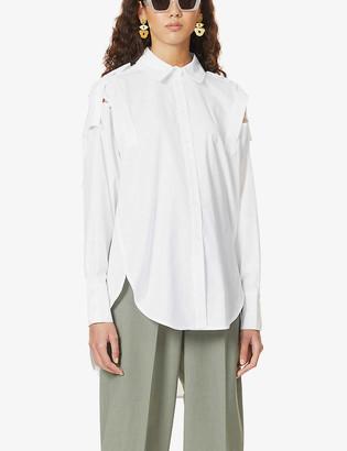 Frenken Corps cut-out cotton-poplin shirt