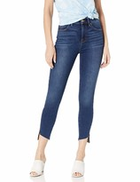 Level 99 Women's Ellie HIGH Rise Uneven Zip Slant Hem