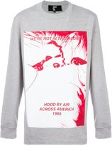 Hood by Air front print T-shirt - men - Cotton - XXL