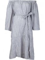 Lisa Marie Fernandez low shoulders belted dress
