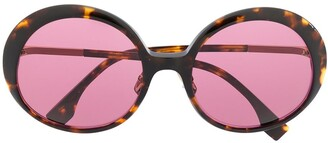 Fendi Oversized Tortoise-Shell Sunglasses