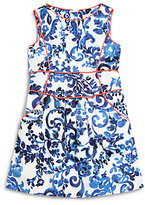 Milly Minis Girl's Piped Floral Sheath Dress