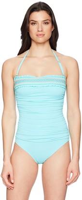 Bleu Rod Beattie Bleu | Rod Beattie Women's Smocked One-Piece Swimsuit Bathing Suit