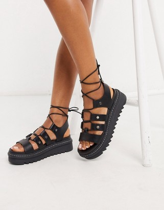 Aldo Dasdez gilly strapping chunky sandals in black