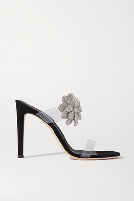 Giuseppe Zanotti 105 Crystal-embellished Pvc And Suede Sandals - Leopard print