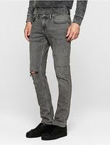Calvin Klein Mens Slim Straight Distressed Jeans