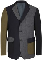 Wooster + Lardini Navy And Olive Wool Blazer