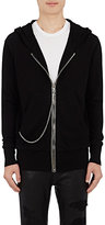 RtA Men's Double-Faced Cotton Zip-Front Hoodie-BLACK