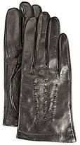 Michael Kors Studded Fleece-Lined Leather Gloves