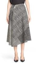 Jason Wu Mixed Print Asymmetric Wool Skirt