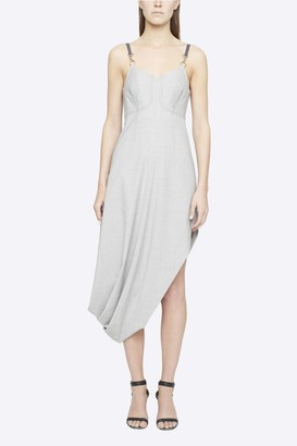 3.1 Phillip Lim Wool Chambray Asymmetric Bustier Dress