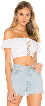superdown Stella Lace Up Top