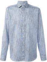 Etro wavy stripe print shirt