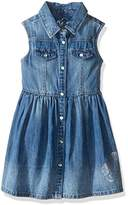 GUESS Little Girls' Sleeveless Snap Front Denim Dress
