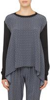 Stella McCartney Knit Jumper With Silk Print Front