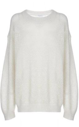 Brunello Cucinelli Loose Diagonal Knit Sweater