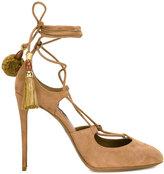 Dolce & Gabbana tied tassel pumps - women - Leather/Suede - 35