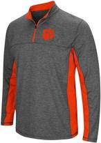 Colosseum Men's Heathered Charcoal Clemson Tigers Milton Windshirt Quarter-Zip Pullover Jacket