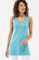 J. Jill Pima V-Neck Sleeveless Tunic