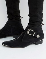 Jeffery West Adam Ant Buckle Boots