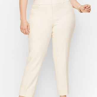 Talbots Plus Size Hampshire Ankle Pants - Lined Ivory