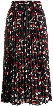 RED Valentino arrow print skirt