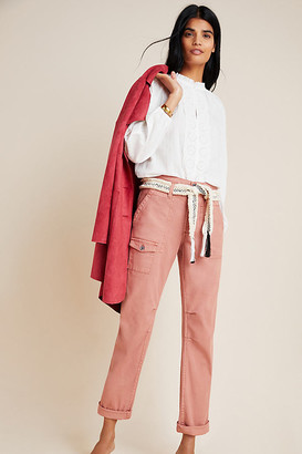 Anthropologie Wanderer High-Rise Cargo Pants By in Black Size 25