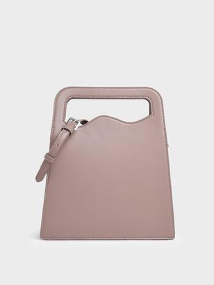 Charles & Keith Asymmetric-Cut Top Handle Tote Bag