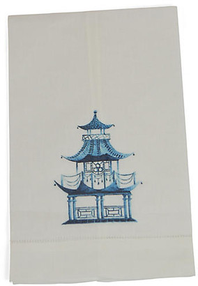 Set of 2 Pagoda Guest Towels - Blue - The French Bee