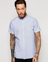 Paul Smith PS by Jeans Short Sleeve Shirt In Classic Regular Fit with Fine Stripe